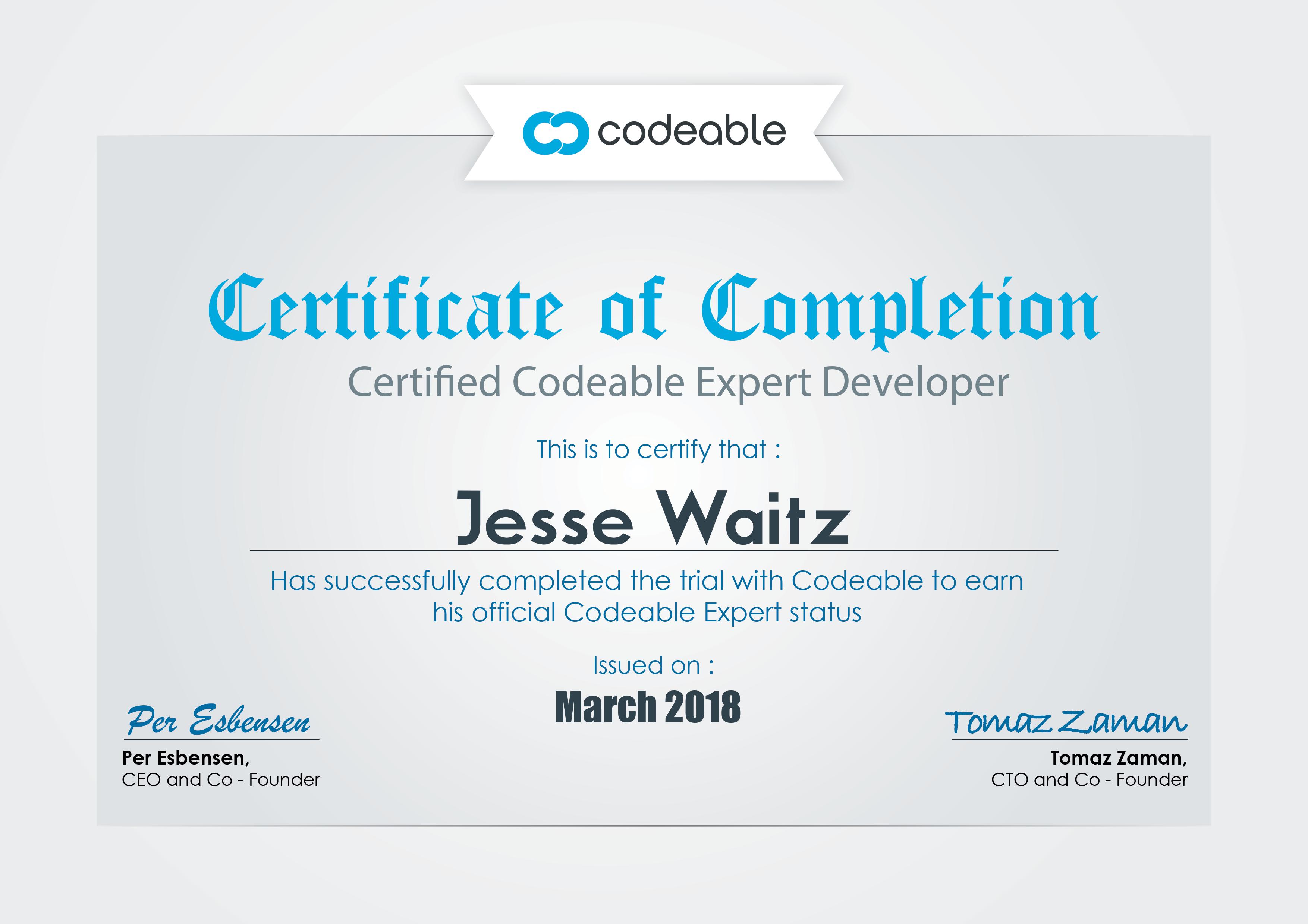 Expert Certificate